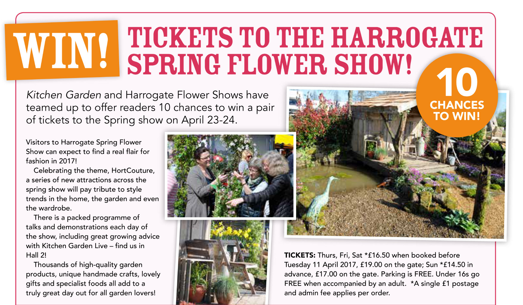 Kitchen Gardener Magazine Win Tickets To The Harrogate Spring Flower Show Published In